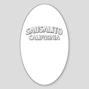 Sausalito California Sticker (Oval)