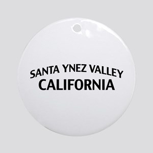 Santa Ynez Valley California Ornament (Round)