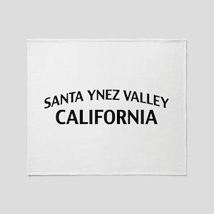 Santa Ynez Valley California Throw Blanket