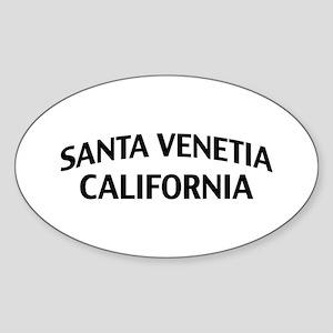 Santa Venetia California Sticker (Oval)