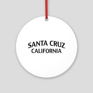 Santa Cruz California Ornament (Round)