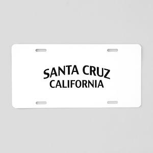 Santa Cruz California Aluminum License Plate