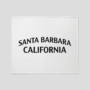 Santa Barbara California Throw Blanket