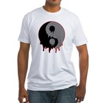 Blood Drip Ying Yang Fitted T-Shirt
