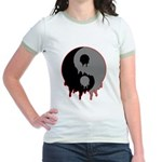 Blood Drip Ying Yang Jr. Ringer T-Shirt