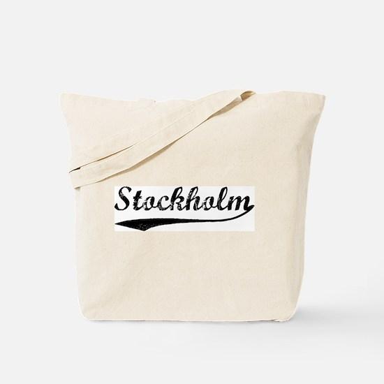 Vintage Stockholm Tote Bag
