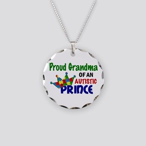 Proud Of My Autistic Prince Necklace Circle Charm