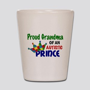 Proud Of My Autistic Prince Shot Glass