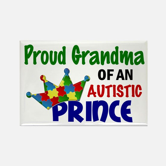 Proud Of My Autistic Prince Rectangle Magnet