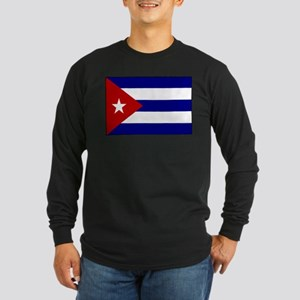 Flag of Cuba 1 Long Sleeve Dark T-Shirt