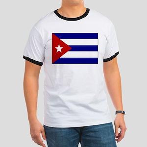 Flag of Cuba 1 Ringer T