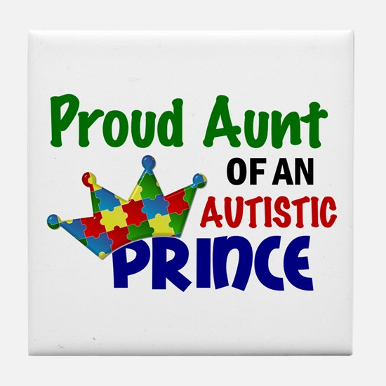 Proud Of My Autistic Prince Tile Coaster