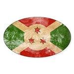 Burundi Flag Sticker (Oval 50 pk)