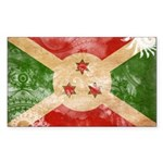 Burundi Flag Sticker (Rectangle)