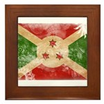 Burundi Flag Framed Tile