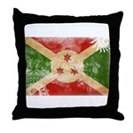 Burundi Flag Throw Pillow