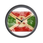 Burundi Flag Wall Clock
