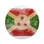 Burundi Flag Ornament (Round)