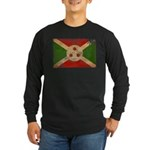 Burundi Flag Long Sleeve Dark T-Shirt