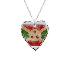 Burundi Flag Necklace