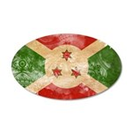 Burundi Flag 22x14 Oval Wall Peel