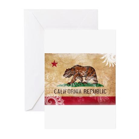 California Flag Greeting Cards (Pk of 10)