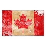 Canada Flag Sticker (Rectangle 10 pk)