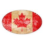 Canada Flag Sticker (Oval 50 pk)