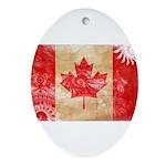 Canada Flag Ornament (Oval)