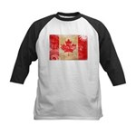 Canada Flag Kids Baseball Jersey