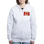 Canada Flag Women's Zip Hoodie