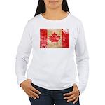 Canada Flag Women's Long Sleeve T-Shirt