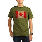 Canada Flag Organic Men's T-Shirt (dark)