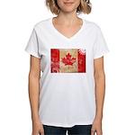 Canada Flag Women's V-Neck T-Shirt