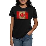 Canada Flag Women's Dark T-Shirt