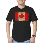 Canada Flag Men's Fitted T-Shirt (dark)