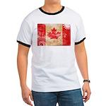 Canada Flag Ringer T