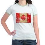 Canada Flag Jr. Ringer T-Shirt