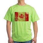 Canada Flag Green T-Shirt