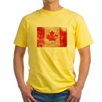 Canada Flag Yellow T-Shirt