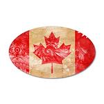 Canada Flag 38.5 x 24.5 Oval Wall Peel