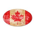 Canada Flag 22x14 Oval Wall Peel