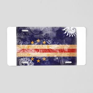 Cape Verde Flag Aluminum License Plate