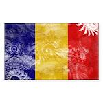 Chad Flag Sticker (Rectangle 50 pk)