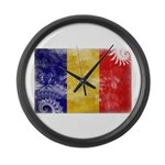 Chad Flag Large Wall Clock
