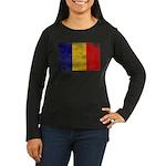 Chad Flag Women's Long Sleeve Dark T-Shirt