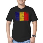 Chad Flag Men's Fitted T-Shirt (dark)