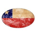 Chile Flag Sticker (Oval 10 pk)