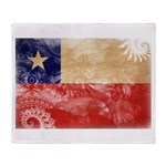 Chile Flag Throw Blanket