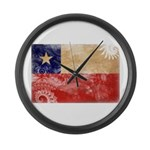 Chile Flag Large Wall Clock